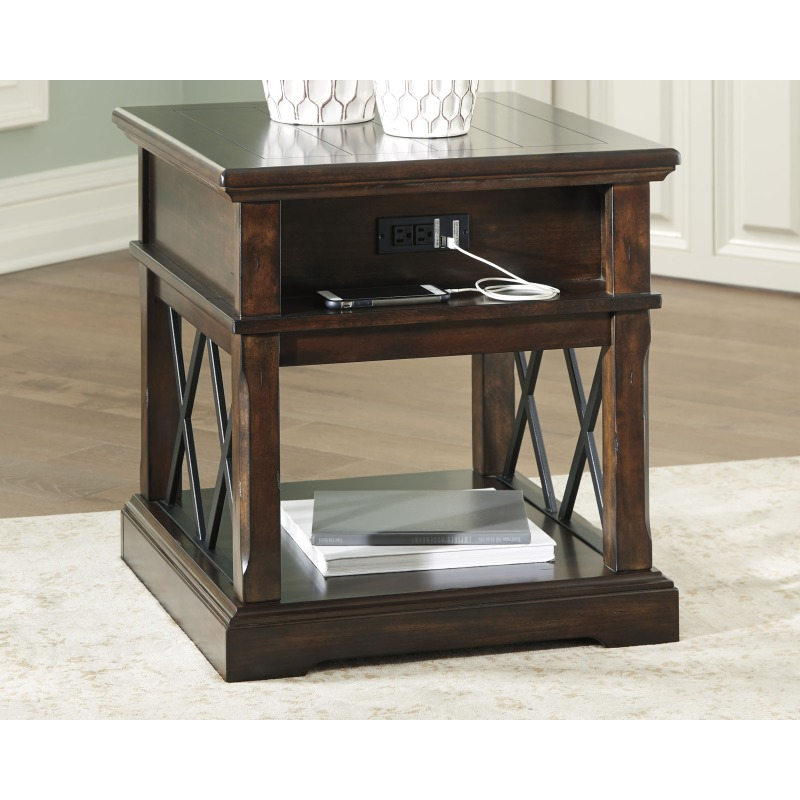 Roddinton End Table With Usb Ports Outlets T701 3