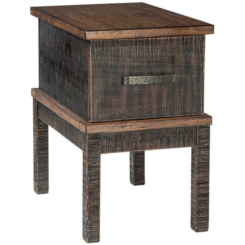 Stanah Chairside End Table with USB Ports & Outlets