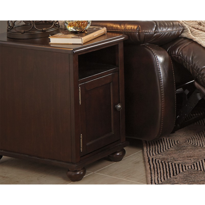 Barilanni Chairside End Table with USB Ports & Outlets