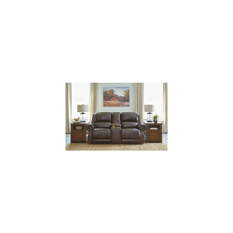 Buncrana Power Reclining Loveseat with Console