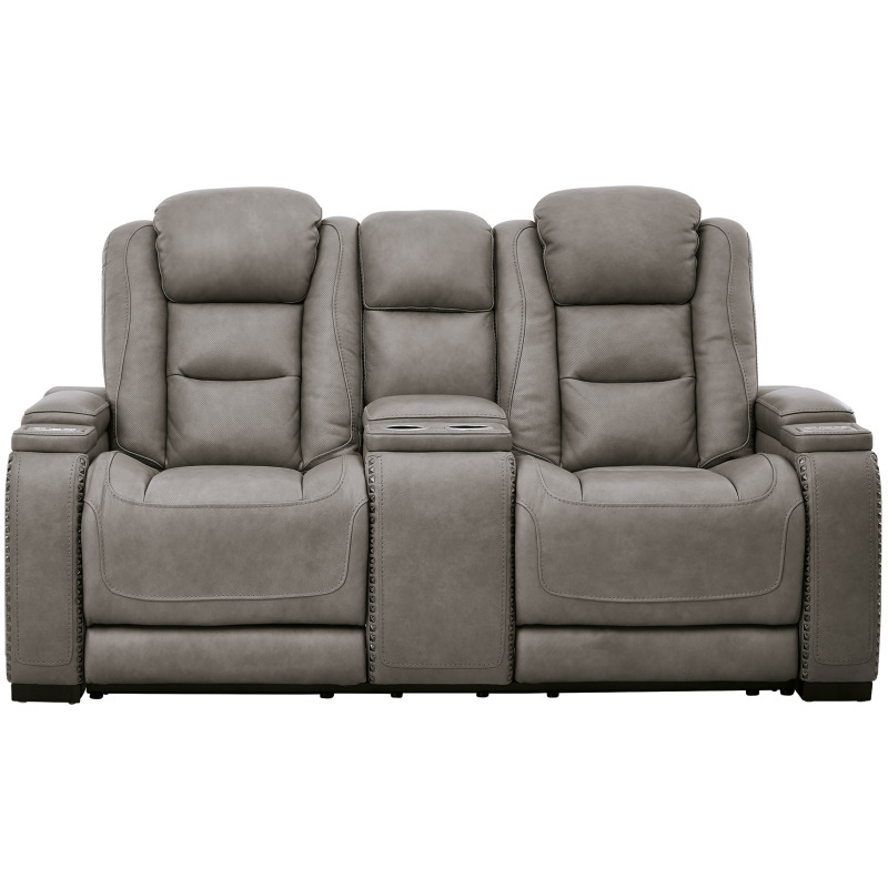 The Man-Den Power Reclining Loveseat with Console