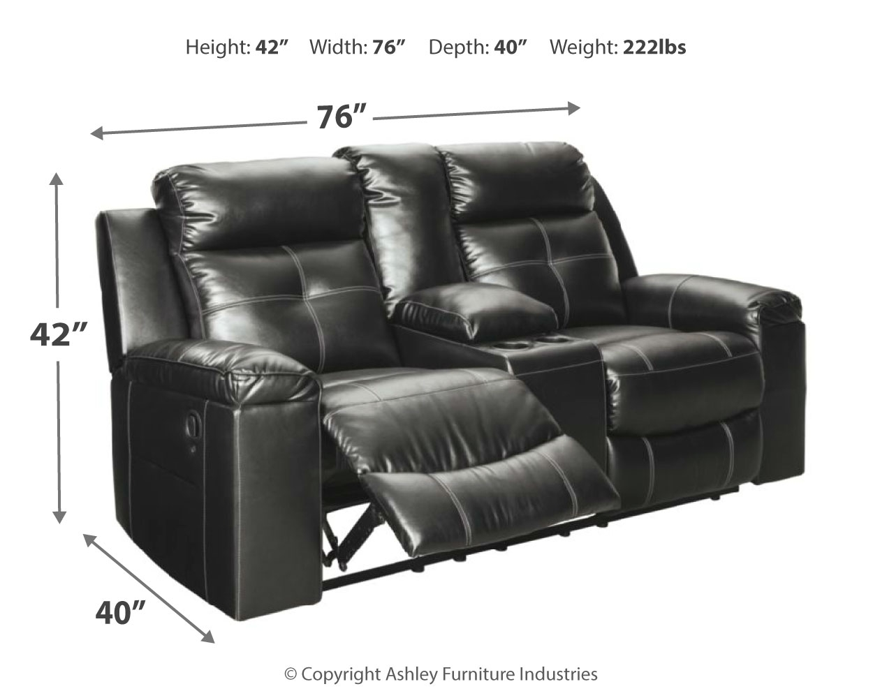 Picture of: Kempten Reclining Loveseat With Console By Signature Design By Ashley 8210594 Vermeulen Furniture