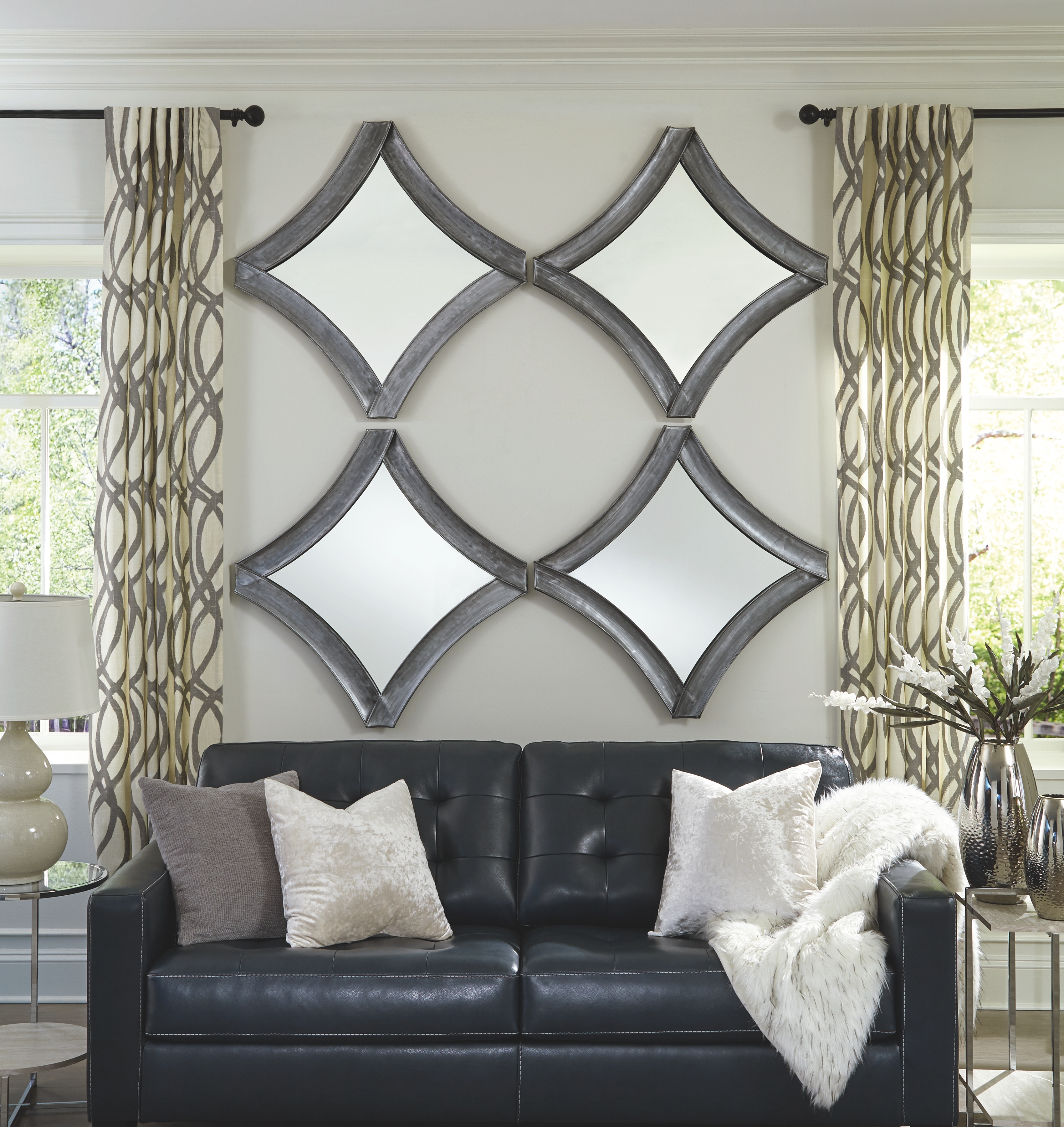 Posie Accent Mirror By Signature Design By Ashley A8010186 Bruce Furniture Floor Covering