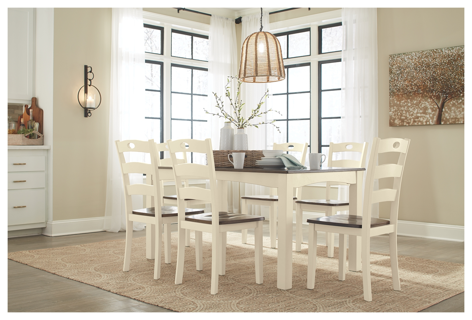 Woodanville Dining Room Table And, Woodinville Dining Room Table And Chairs Set Of 7