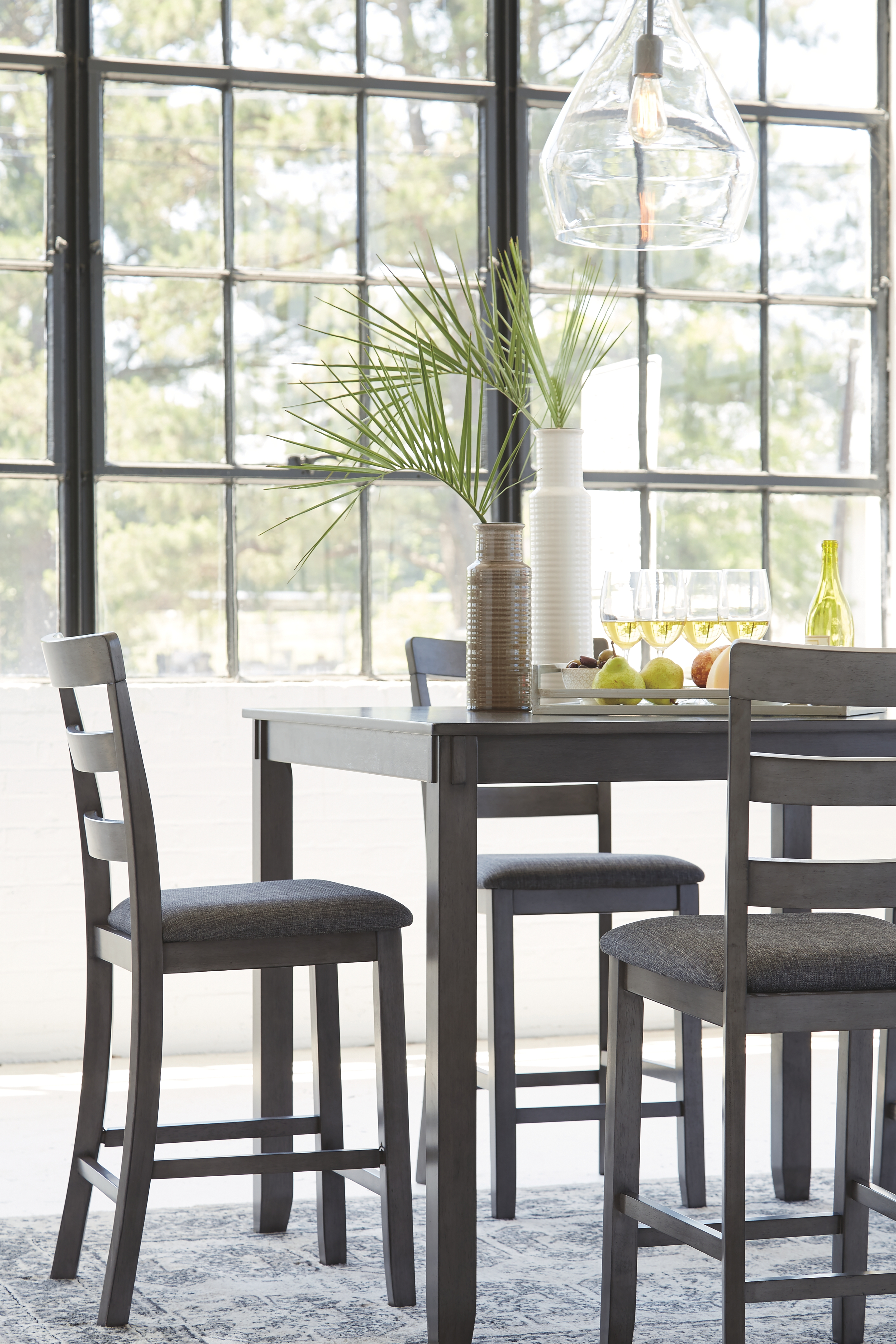 Bridson Counter Height Dining Room Table And Bar Stools Set Of 5 By Signature Design By Ashley D383 223 Wright Furniture Flooring