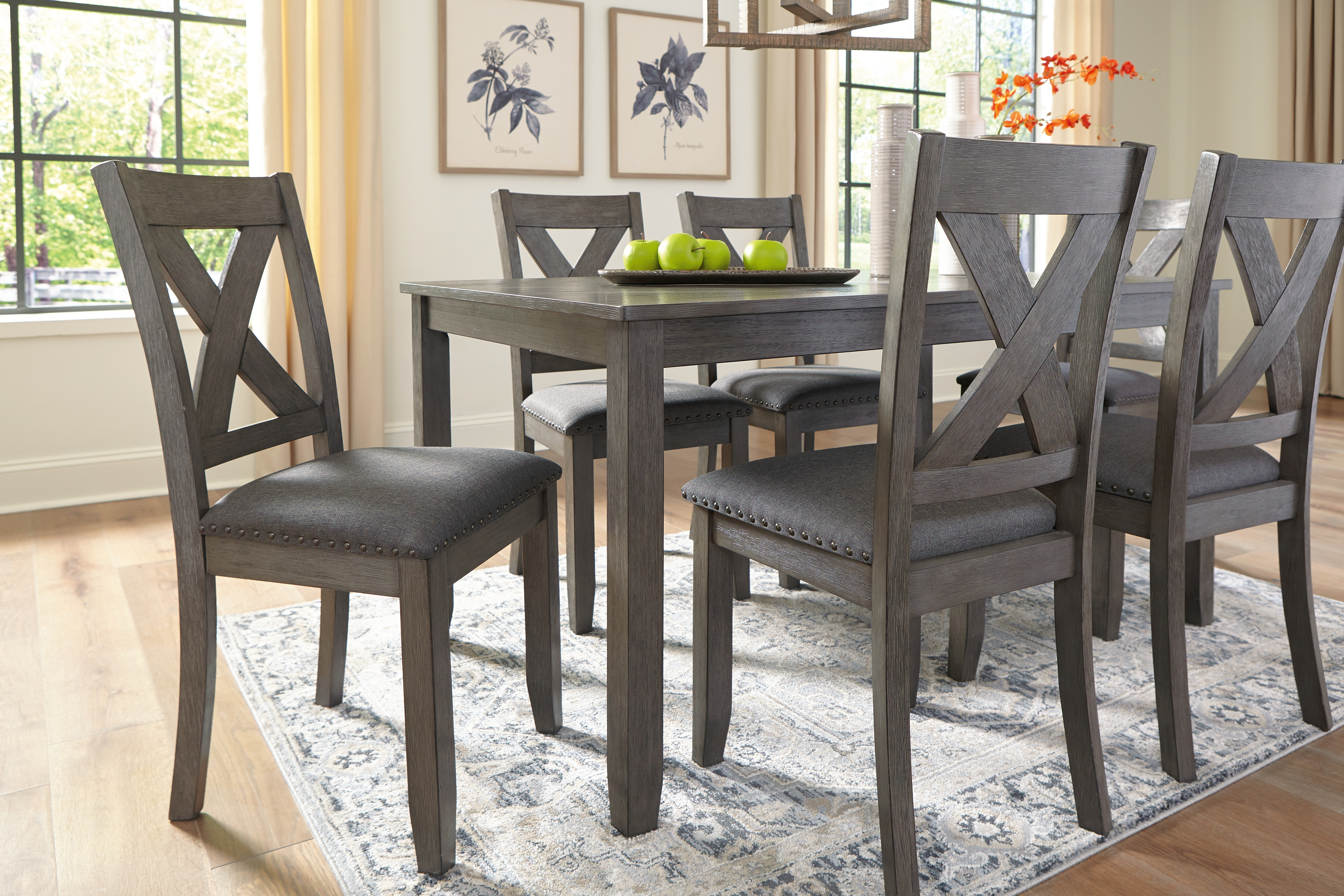 Caitbrook Dining Room Table And Chairs Set Of 7 By Signature Design By Ashley 400228157 Turner S Budget Furniture