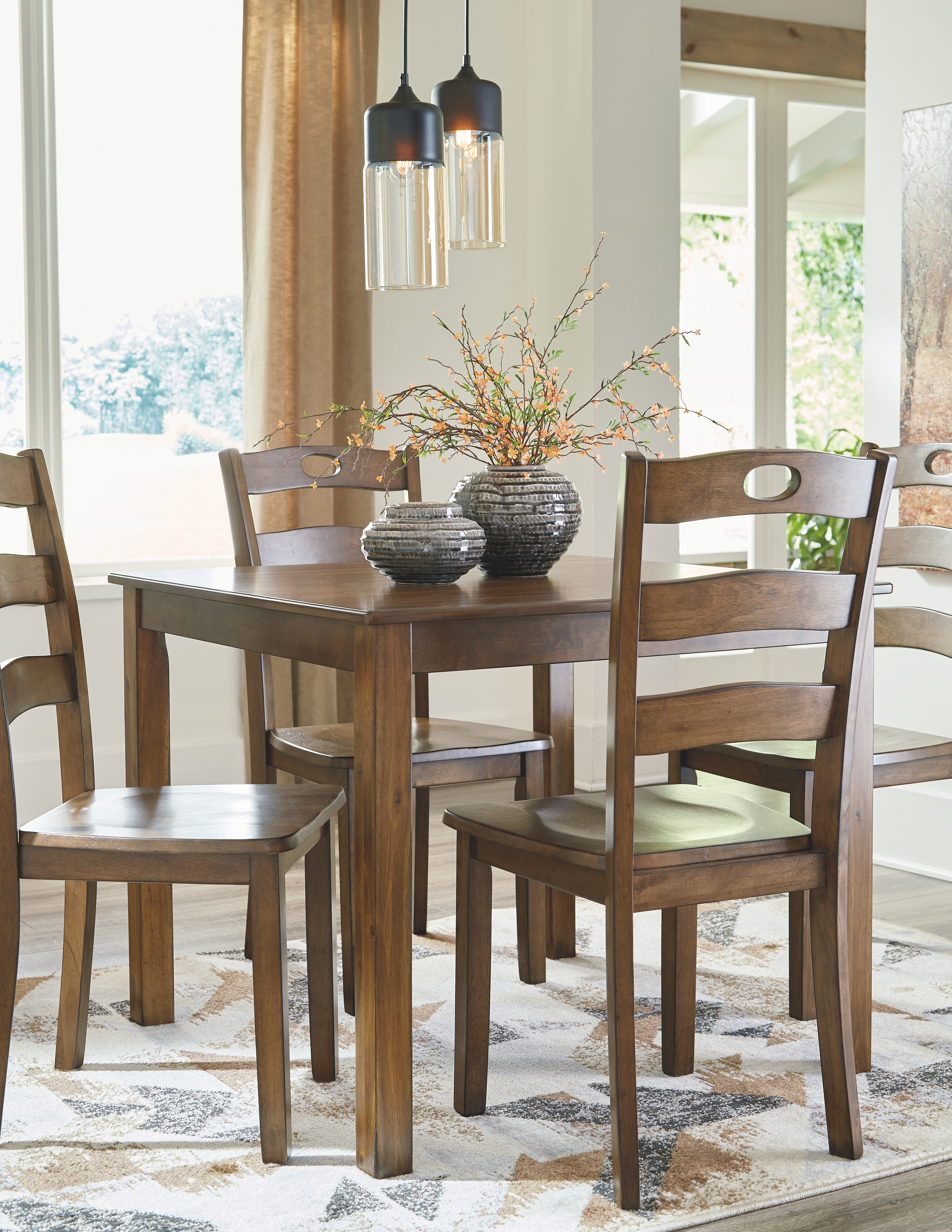 Hazelteen Dining Room Table And Chairs Set Of 5 By Signature Design By Ashley D419 225 Missouri Furniture