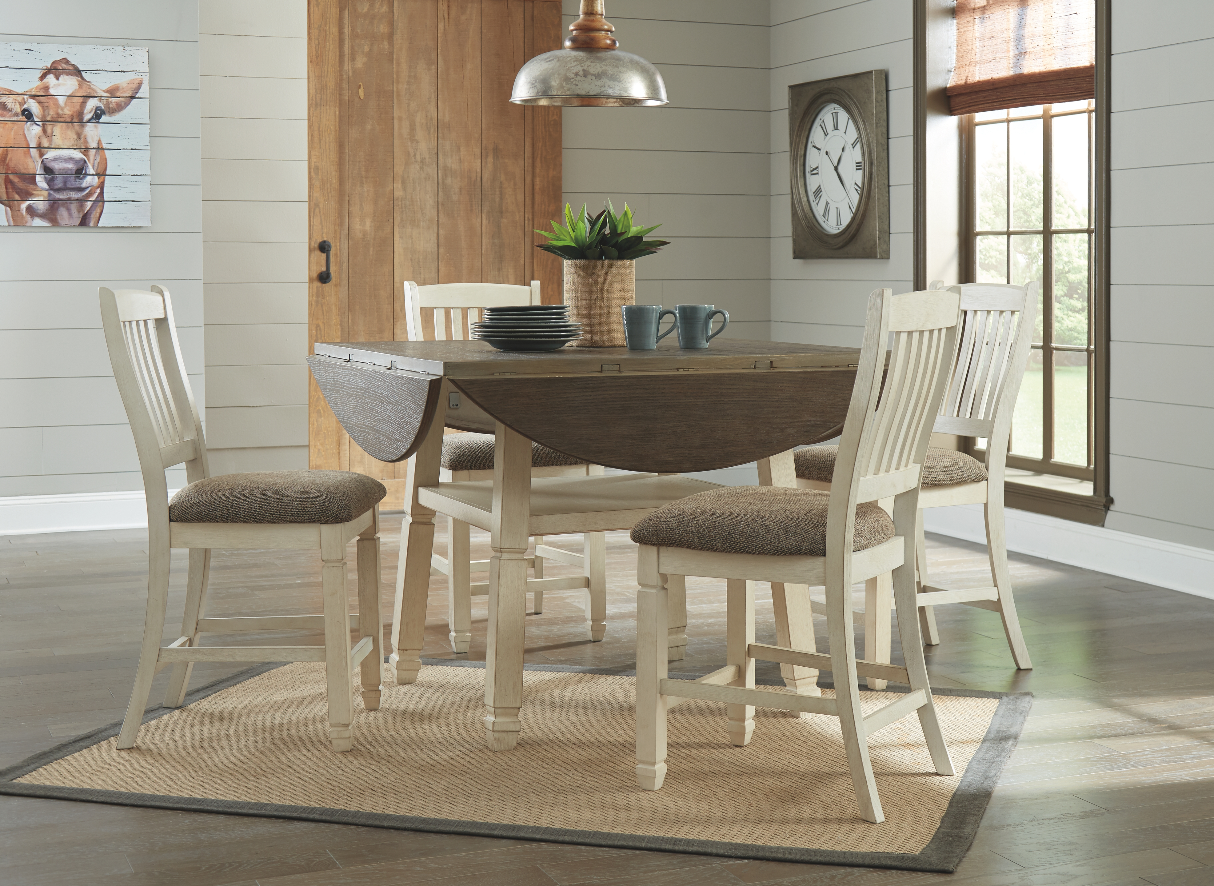 Bolanburg Counter Height Dining Room Table 9 by Signature ...
