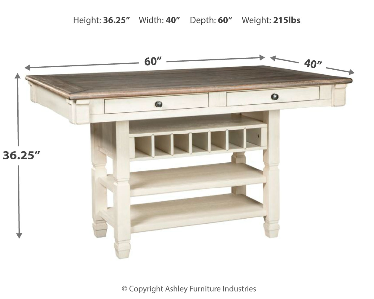 Bolanburg Counter Height Dining Room, Dining Room Table Height
