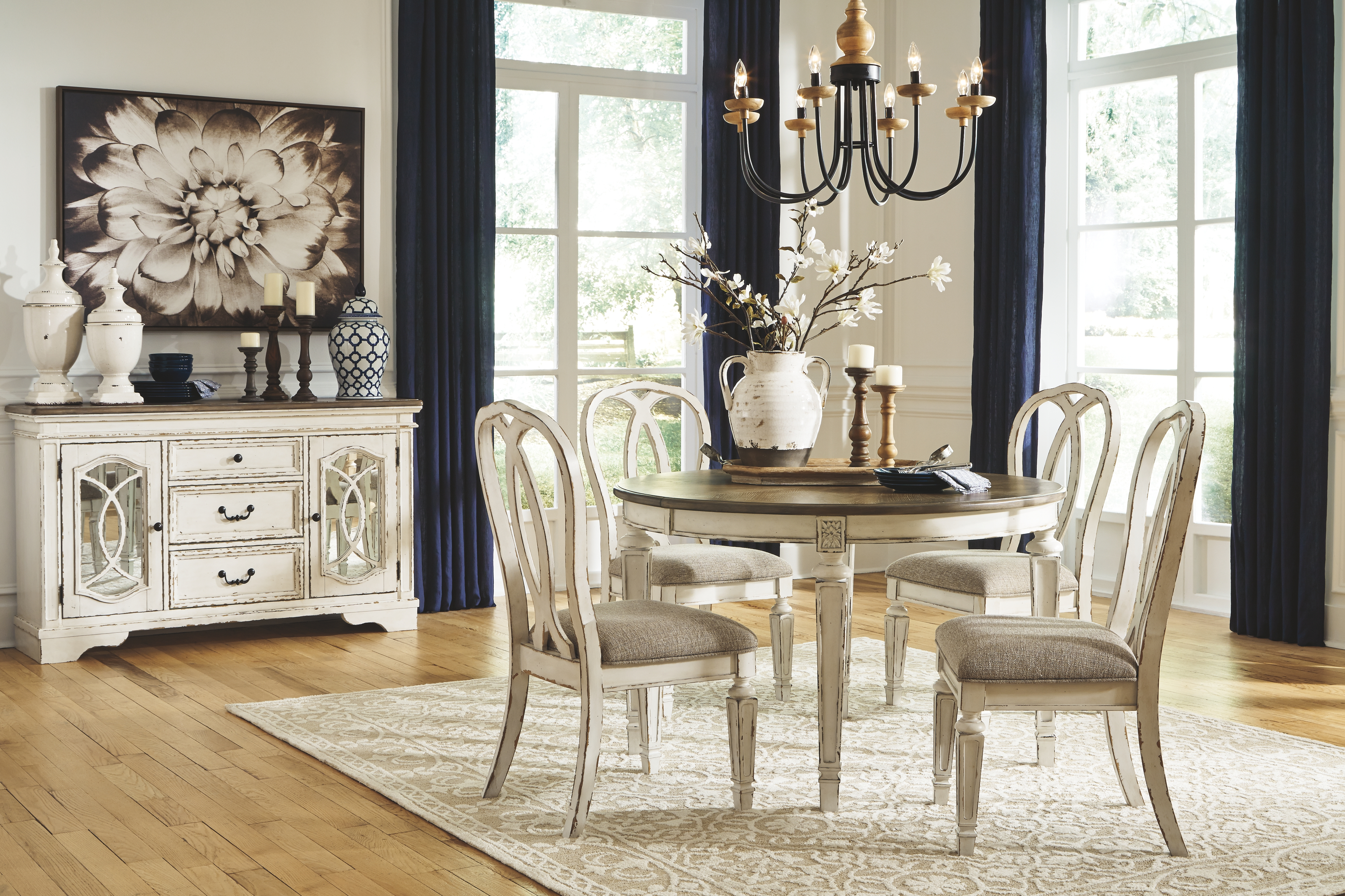 Dining Room Table By Signature Design By Ashley D743 35 The Furniture Mall