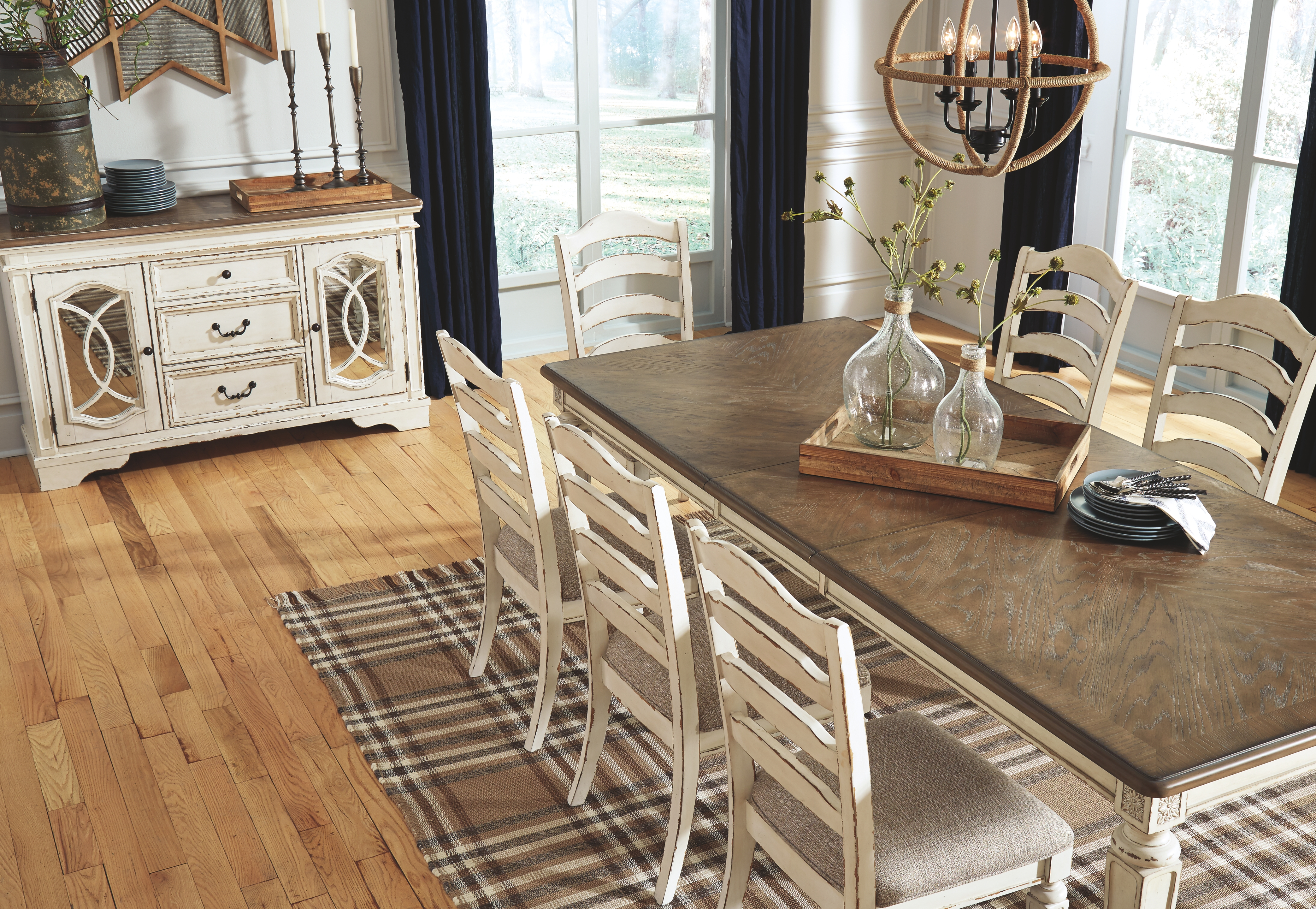 Realyn Dining Room Table By Signature Design By Ashley D743 45 Wright Furniture Flooring