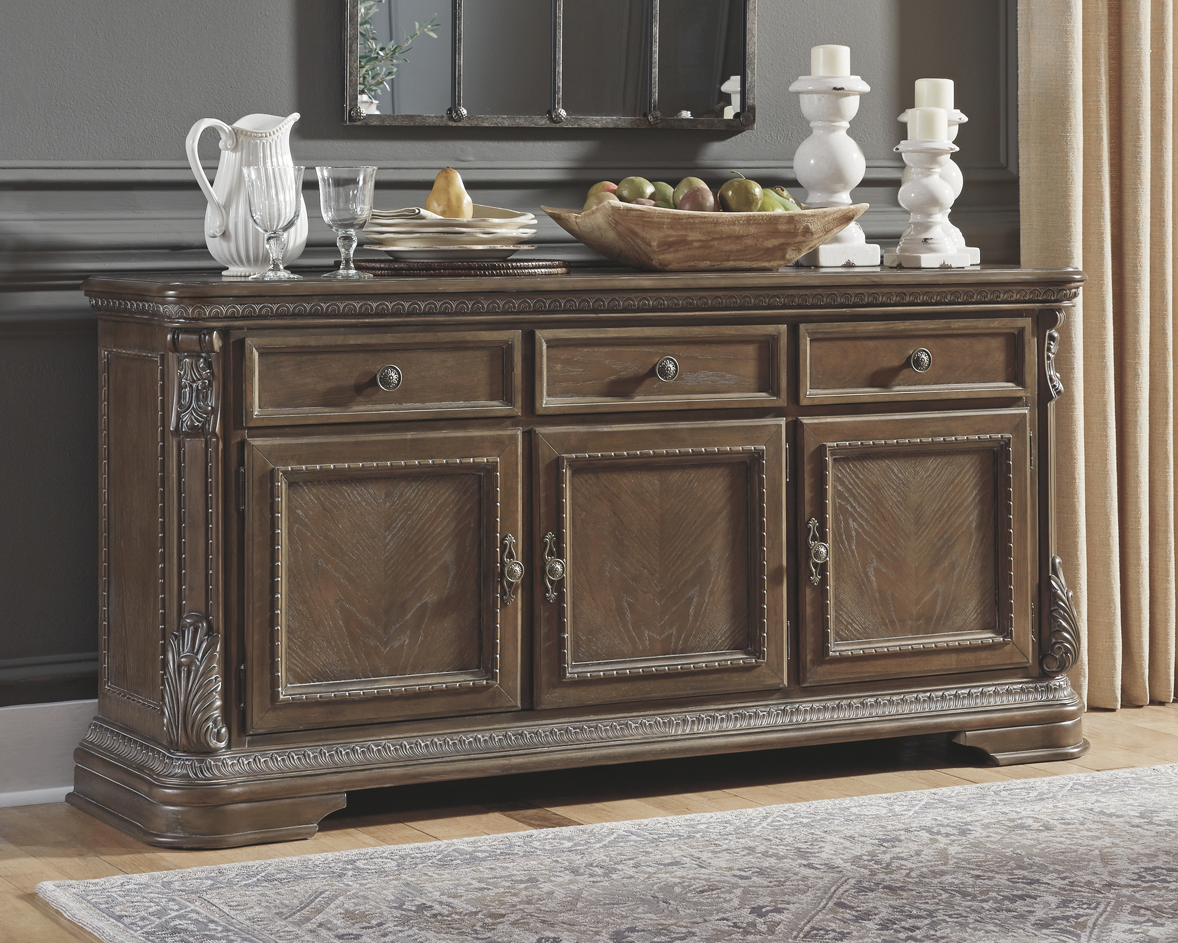 Dining Room Buffet By Signature Design By Ashley D803 80 The Furniture Mall