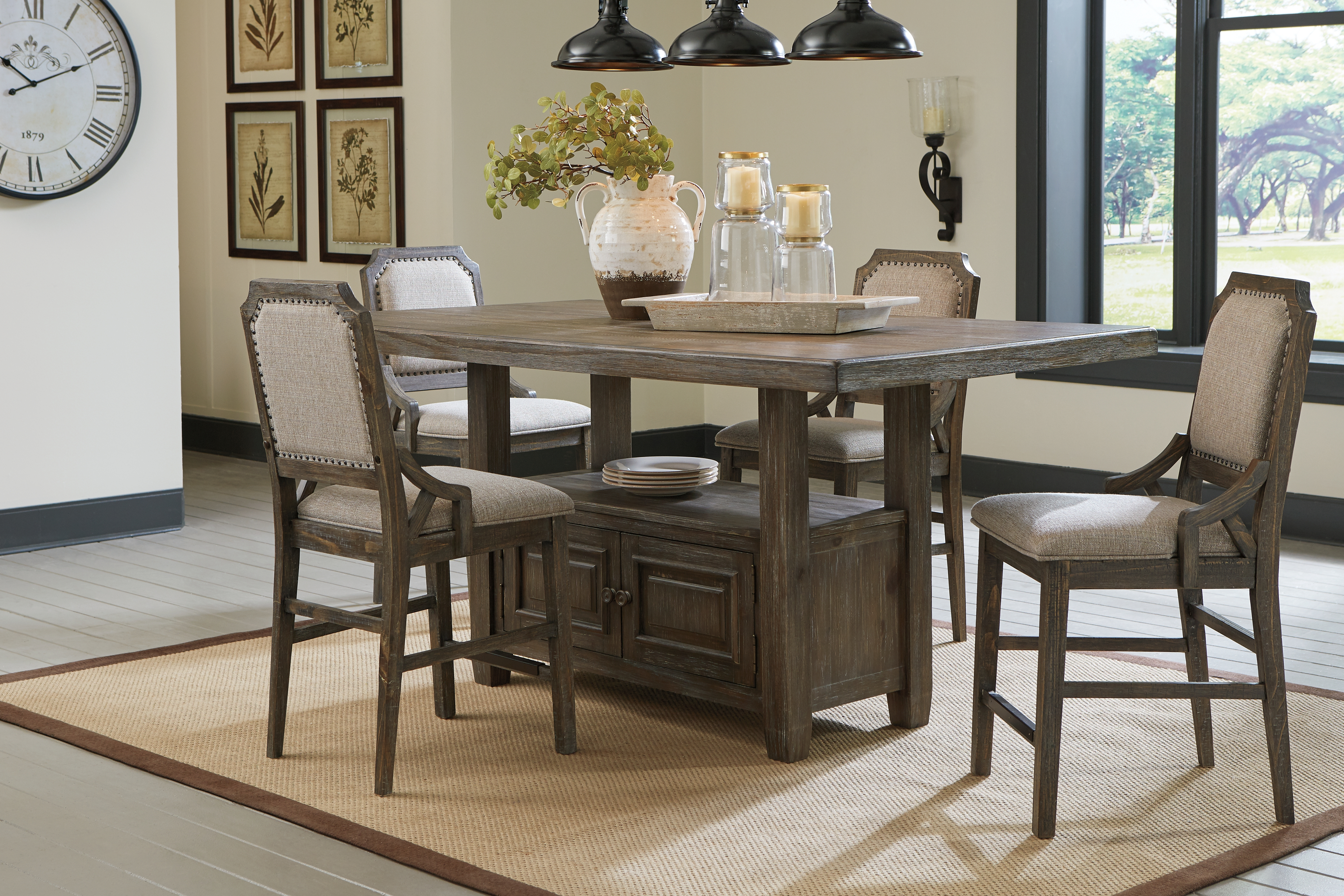 Wyndahl Counter Height Dining Room Table By Signature Design By Ashley Nis916792748 Bruce Furniture Floor Covering
