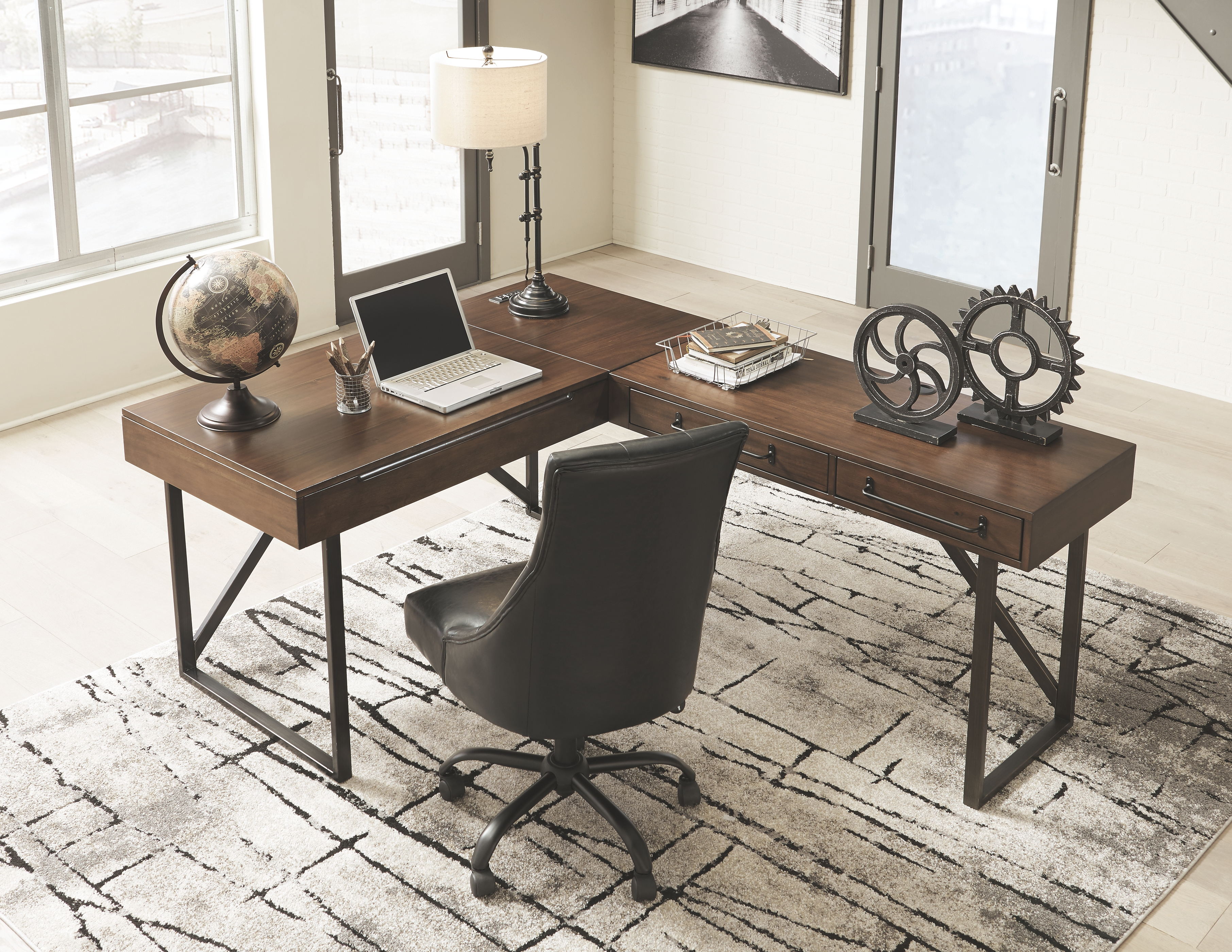 Starmore Home Office Desk By Signature Design By Ashley 267318973 Turner S Budget Furniture