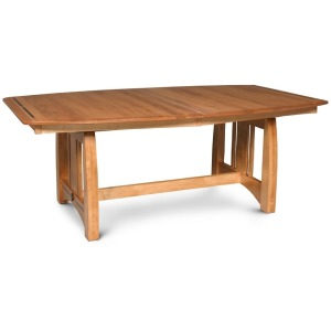 Aspen Trestle Table with Ebony Inlays