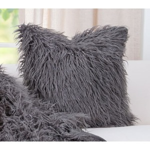 "Llama Charcoal 20"" Pillow"