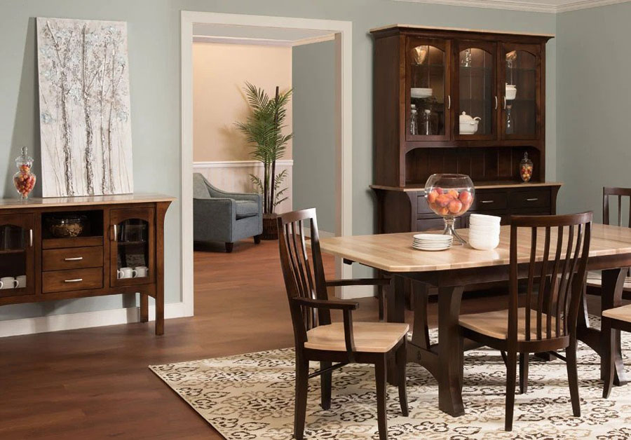 Country Value Woodworks traditional handcrafted dining table