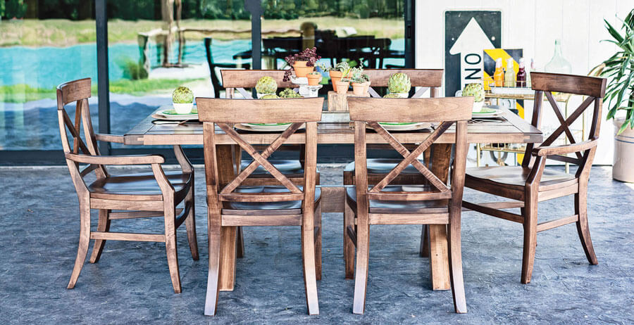 Oakwood traditional handcrafted dining table