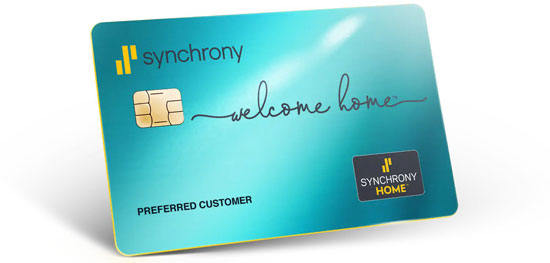 example of a Synchrony Home credit card