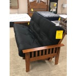Wood Futon Frame and Innerspring Mattress