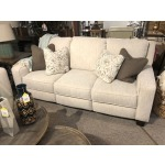 West End Double Reclining Power Headrest Sofa with Pillows
