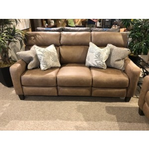 Mt. Vernon Double Reclining Power Headrest Sofa with Pillows