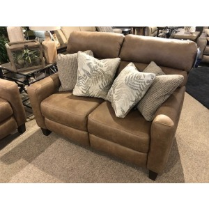 Mt. Vernon Double Reclining Power Headrest Loveseat with Pillows