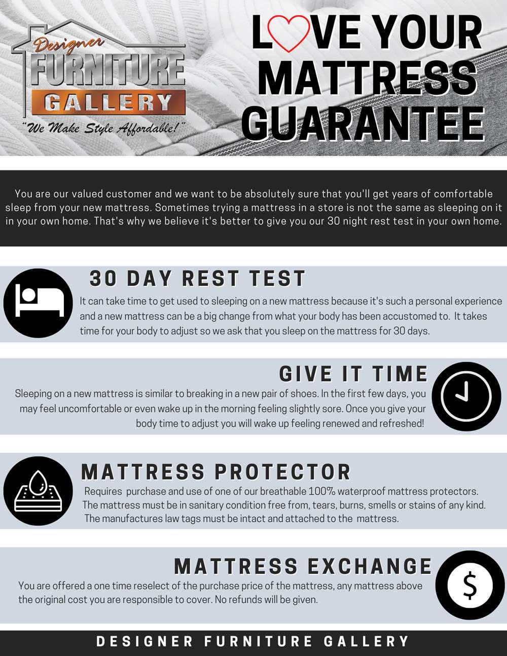 Love Your Mattress Guarantee