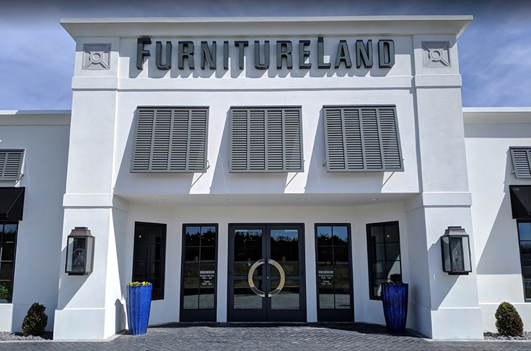 FurnitureLand storefront in Delmarva, Deleware