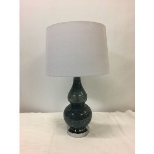 Metal + Glass Table Lamp