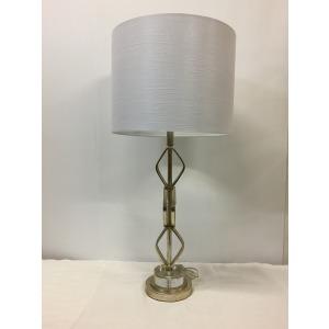 Metal + Crystal Table Lamp