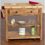 Sedona Butcher Block Kitchen Island Cart