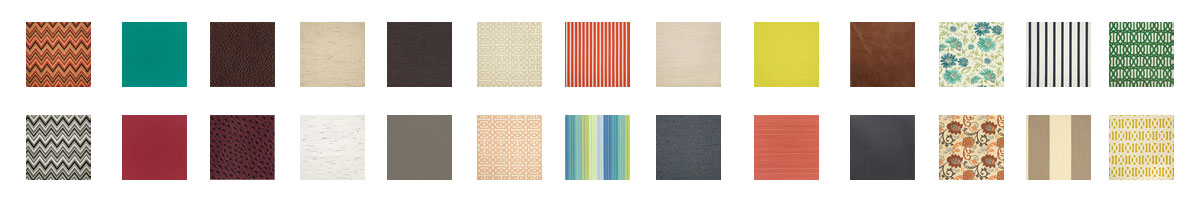 Sample of upholstery options