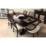 DOUBLE PEDISTAL TABLE AMARETTO & CHERRY W 6 C