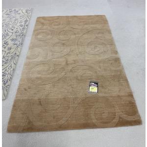Area Rug 5x7 Tan w/ Swirls