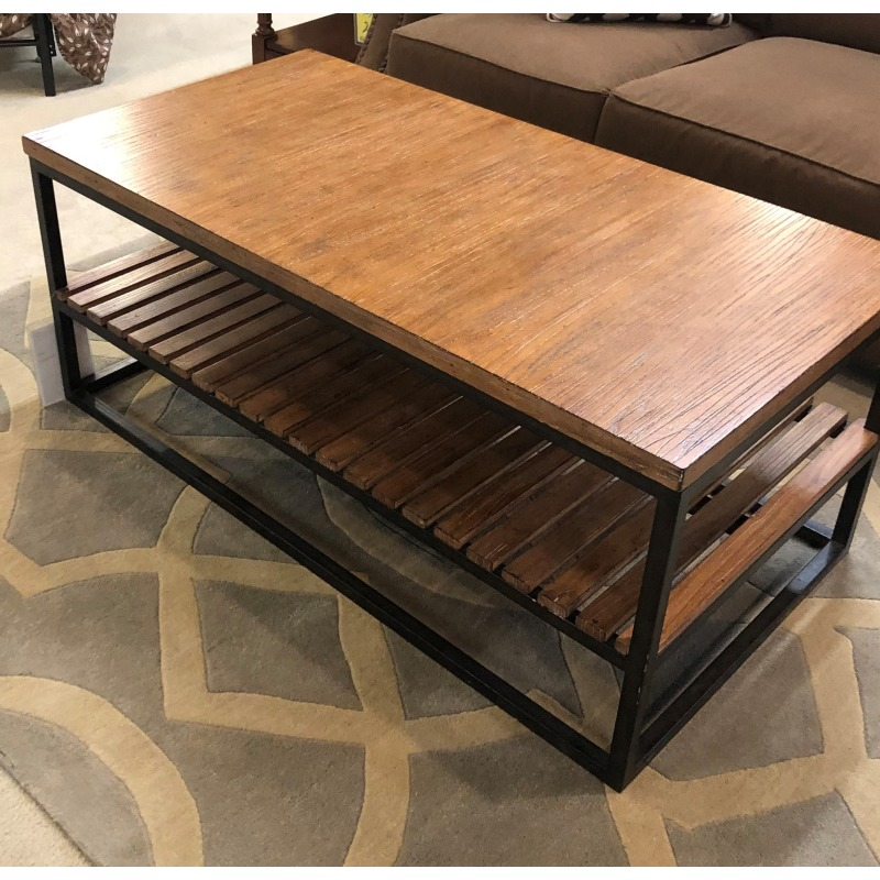 COCKTAIL TABLE METAL DRIFTWOOD MODERN CRAFTSMAN