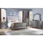 3 PC King Upholstered Sleigh Bedroom Set