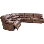6PC Leather Power Reclining Sectional