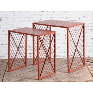 2PC Table Set Terra Cotta