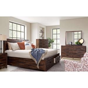 Warner 3 PC King Bedroom Set - Chestnut