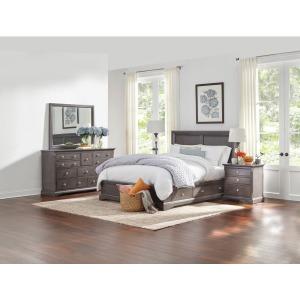 Grey 3 Piece Queen Storage Bedroom