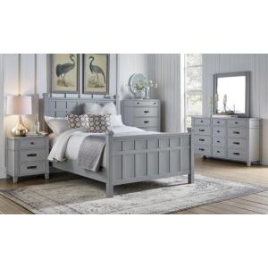 Grey/Blue 3 Piece Bedroom Set