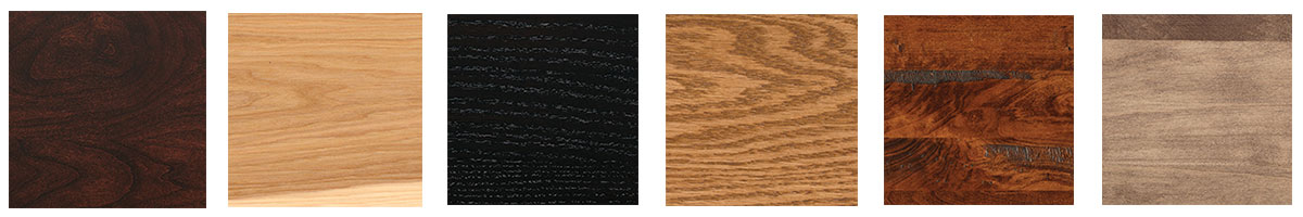 Sample of stain options