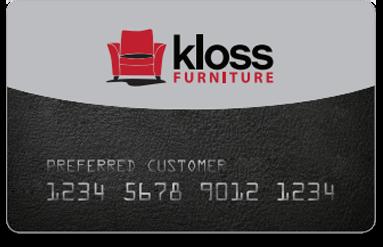 Kloss Furniture credit card