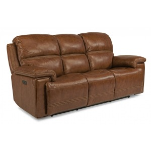 Fenwick Leather Power Reclining Sofa w/ Power Headrests