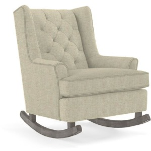 Paisley Wingback Rocking Chair