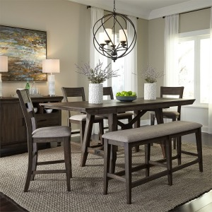 Double Bridge 7 Piece Gathering Table Set