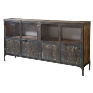 4 MIRRORED LARGE CONSOLE