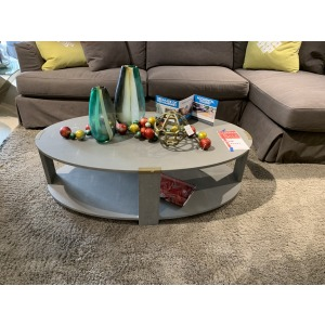 OVAL SHAGREEN COCKTAIL TABLE