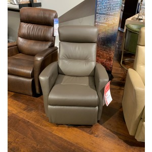 Power Leather Small Recliner